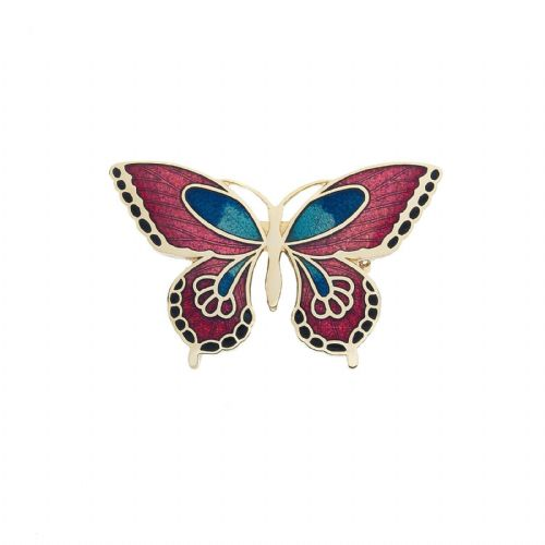 Butterfly Brooch Gold Plated Brand New Gift Packaging